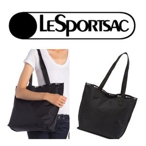 NWT LeSportsac Madison Reversible Tote Bag in blk